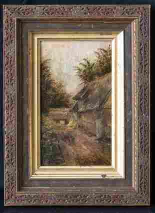 """Felix R.Hidalgo(1855-1913)Spain,Philippines Oil""""Manila"""