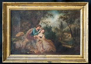 "Octave Tassaert(1800-1874)France Artist Oil""Young"