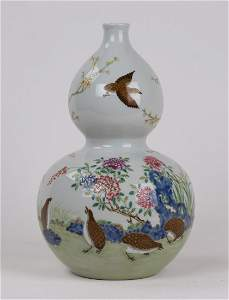 A FAMILLE ROSE VASE WITH YONGZHENG MARK