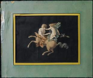 Antique 1900's Italian Watercolor Painting