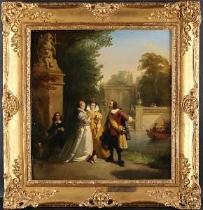 Willem Hendrik Schmidt (1809–1849) Original Oil