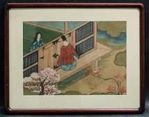 Early 20th Century Japanese UkiyoeWoodblock print on