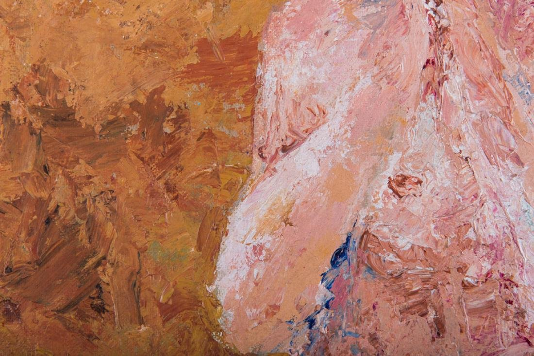 """Vintage Abstract Expressionist Oil Painting """"Portrait - 6"""