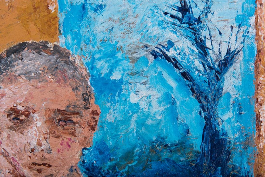 """Vintage Abstract Expressionist Oil Painting """"Portrait - 7"""