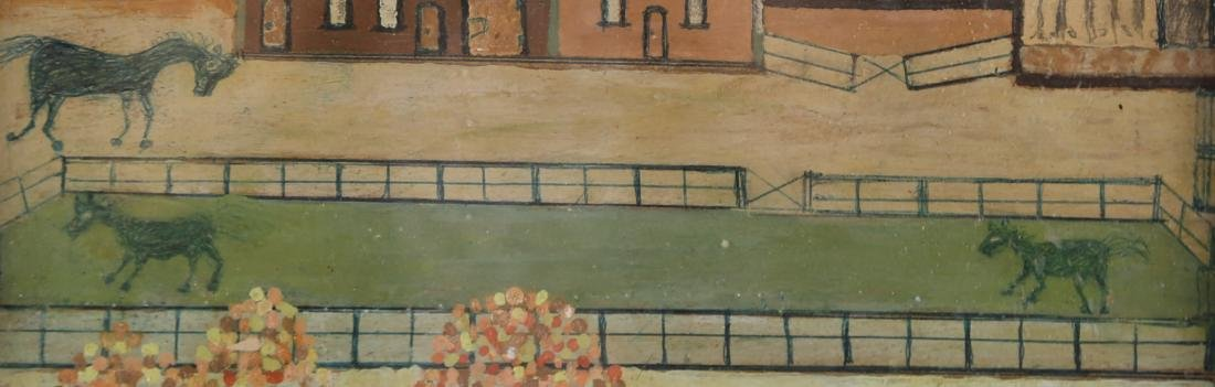 "Vintage Oil On Board ""Houses on Manor "" - 6"