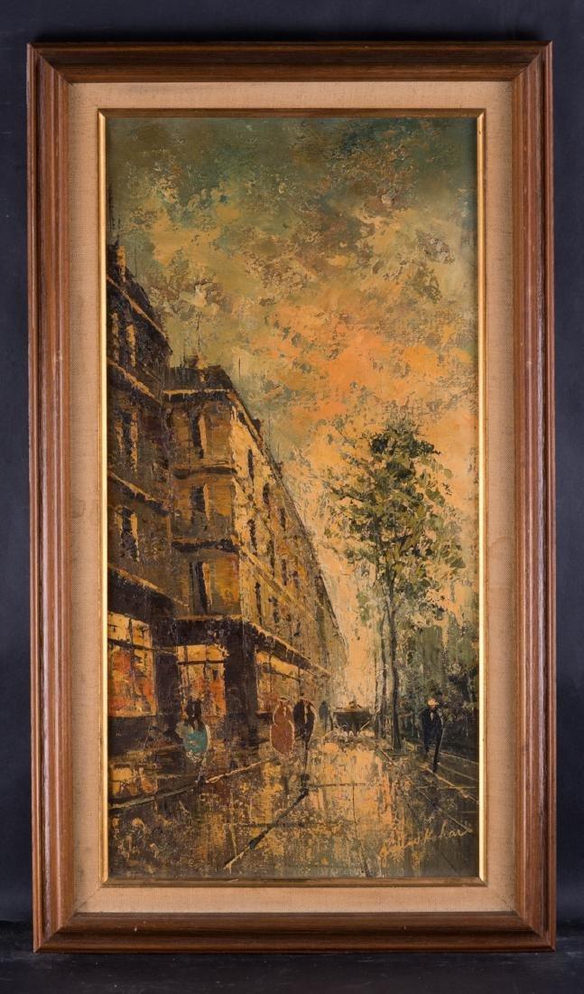 Vintage French Impressionist Original Oil Painting