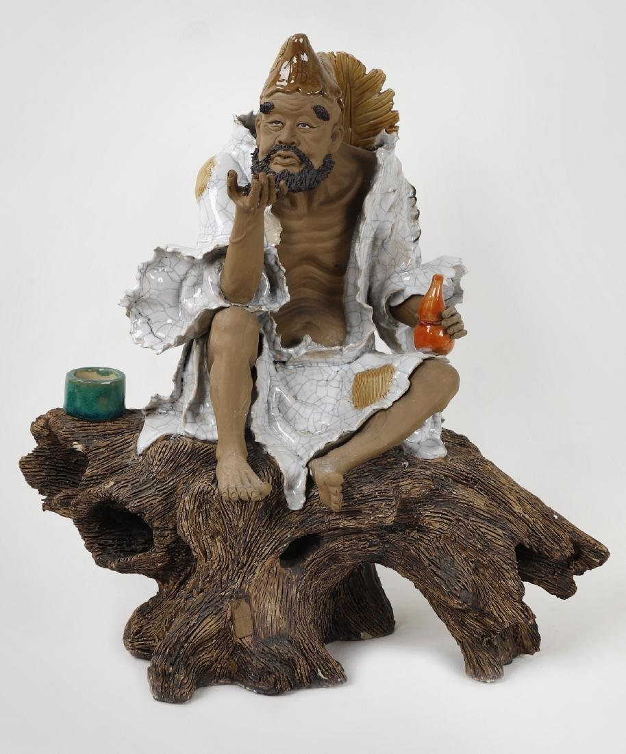"""A Chinese ceramic art Buddha figure """"Ji Gong"""" image"""