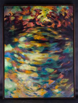 Very Large And Beatiful Abstract Original Oil Painting