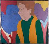 Large ModernistFauvist Original Oil On Canvas