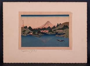 Antique Japense Ukiyo-e/Woodblock Print Published By