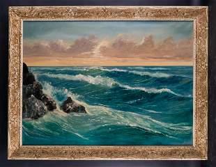 Large American Impressionist Original Oil Painting