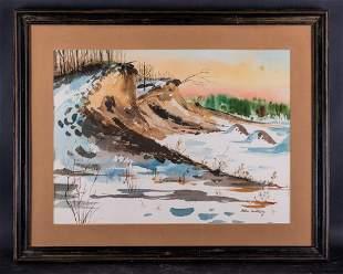 American Artist Helen Ruthberg Original Watercolor