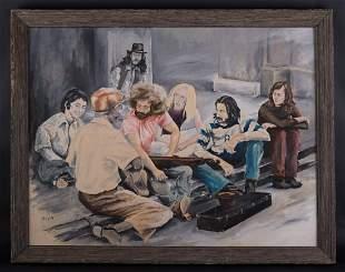 "Vintage American Impressionist Oil Painting ""Portrait"