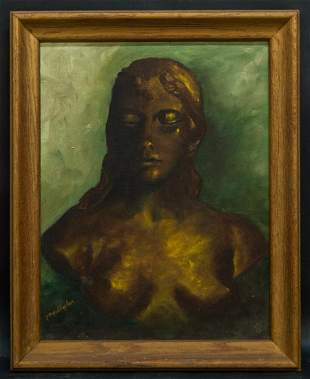 """Early 20th Century Still Life Oil Painting """"Portrait Of"""