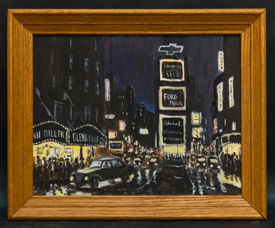 """Vintage Imressionist Original Oil Painting """"Night At"""