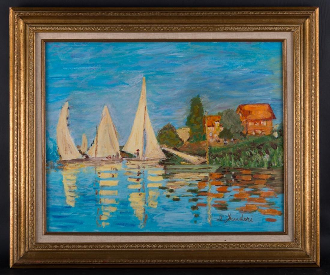 Vintage Post Impressionist Original Oil Painting