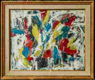 Michael Goldberg(New York 1924-2007)|Oil/Canvas,26 x 32
