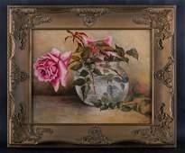 Vintage Traditional Still Life Original Oil Painting