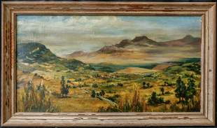 """Peter Hurd(New Mexico 1904-1984)Oil/Canvas,""""Western"""