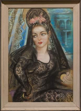 Large Ramon Casas Carbo(1866-1932)Spain Artist