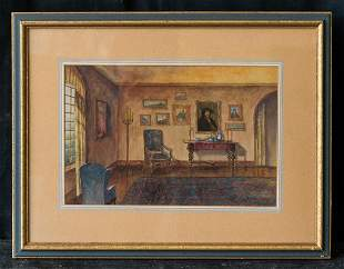Walter Gay  (1856 - 1937) MA/France Artist Watercolor