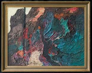 Tadeus Kantor(1915 - 1990) Poland Artist Abstract Oil