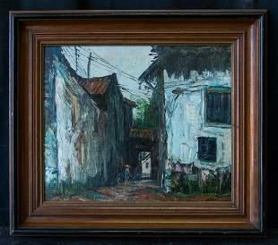 Liu Kang  (1911 - 2005) SIngapore Listed Artist Oil