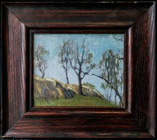 """Canadian Oil Painting Initial """"J.M"""" Dated 31, Ontario,"""