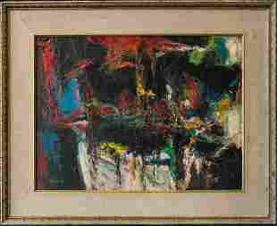 Peter Busa (1914-1985) PA Listed Artist Abstract Oil