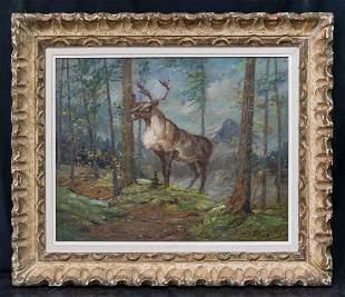 Carl Rungius (1869-1959) NY/Canada Artist Plein Air Oil
