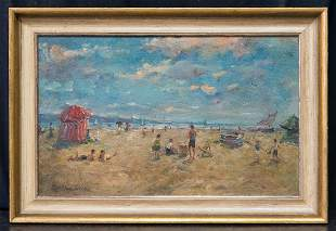 Martha Walter (MA, PA / France 1875 - 1976) Oil