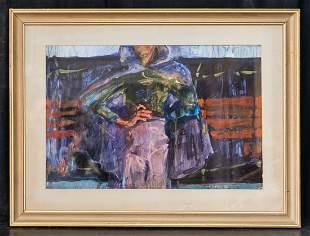 Bob Thompson  (1937 - 1966) Kentucky Artist Oil