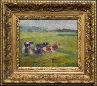 Edward Volkert (1871 - 1935) New York Artist Oil