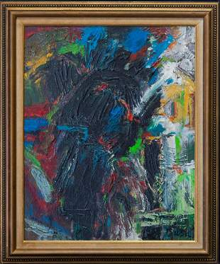 Peter Busa (1914 - 1985) Pennsylvania Artist Abstract
