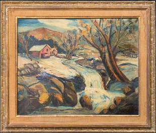 William Lester Stevens (1888 - 1969) MA Artist Oil