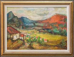 Andrew Dasburg (1887 - 1979) New York/France Artist Oil