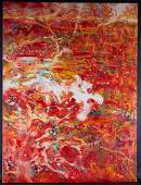 Fine Art Abstract Original OIl Painting By Artist