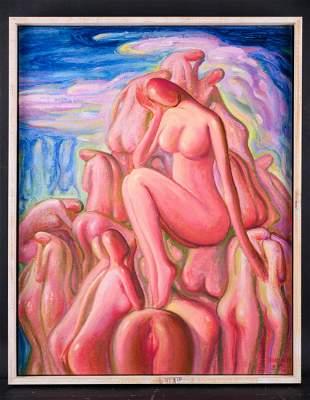 Artist Zhengdao Zhang Surrealist Original Oil Painting