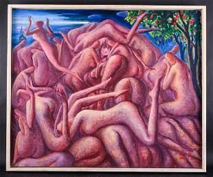 """""""When The Bell Rang"""" Artist Zhengdao Zhang Surrealist"""