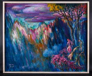 "Artist Zhengdao Zhang Surrealist Oil ""Layers Of"