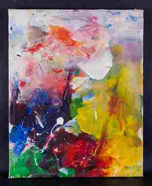 """Artist Quan Sun Abstract Oil/Mixed Media By """""""