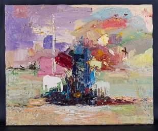 """Quan Sun Artist Original Oil Painting """"Landscape 43"""""""