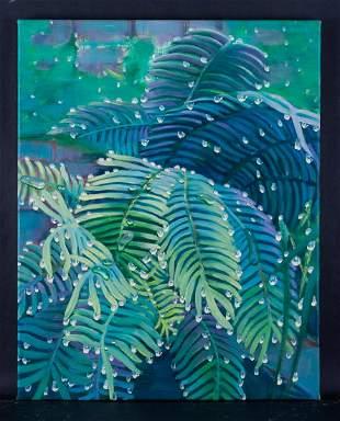 """Fine Art Original Oil By Artist Yahong Teng """"Desert"""