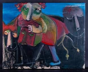 Fine Art Original Oil Painting By Artist Te'er Ba