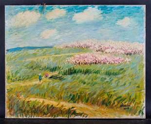 "Fine Art Original Oil Painting By Artist Li Zhu ""Spring"