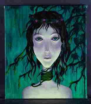 "Fine Art Original Oil By Artist Huaxiang Li ""Prevalence"