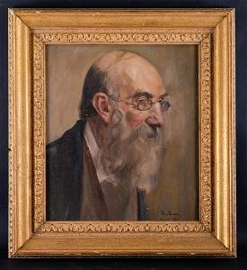 """Early 20th Century Original Oil Painting """"Portrait Of"""