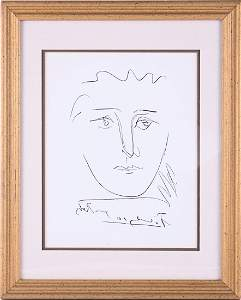 "Vintage Original Pablo Picasso Etching ""Pour Robie"""