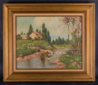 Early Twentieth Century Impressionist Oil on Board