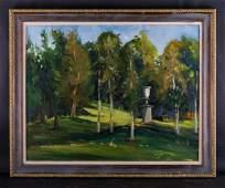 Large Vintage American Impressionist Oil Painting